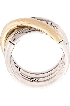 John Hardy 18kt yellow and sterling Bamboo band ring