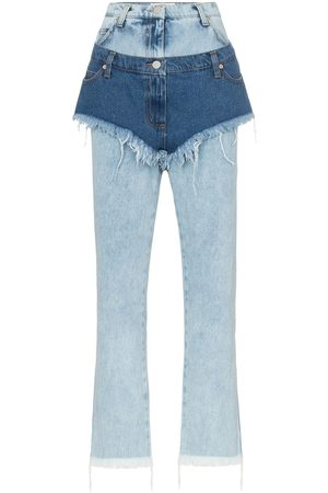 Natasha Zinko High waist layered shorts jeans