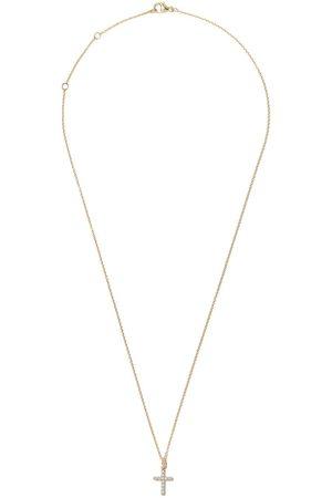 David Yurman 18kt yellow gold Cable Collectibles diamond cross pendant necklace