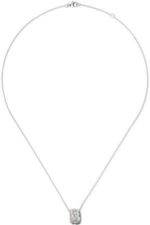 De Beers 18kt Dewdrop diamond pendant necklace