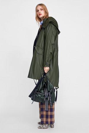Zara FABRIC BUCKET BAG WITH METAL DETAILS