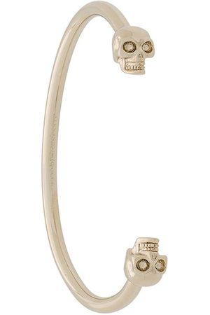 Alexander McQueen Senhora Pulseiras - Twin skull bracelet