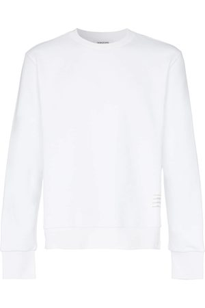 Thom Browne Homem Camisolas sem capuz - Center-Back Stripe Jersey Pullover