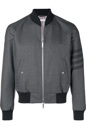 Thom Browne 4-Bar Ribbed Knit Blouson Jacket