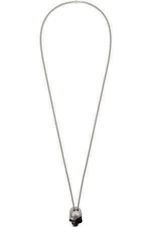 Alexander McQueen And silver divided skull necklace