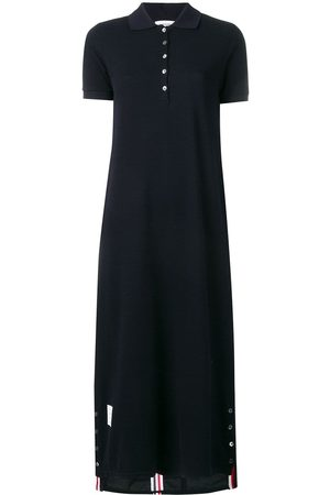 Thom Browne Center-Back Stripe Piqué Polo Dress