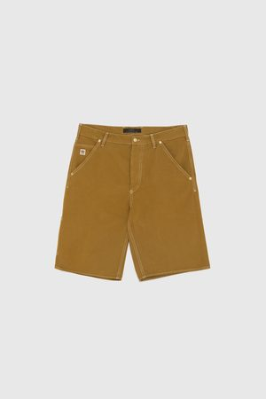 Zara BERMUDA SHORTS WITH CONTRAST TOPSTITCHING