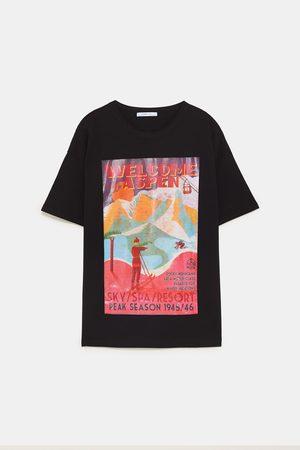 Zara T-shirts & Manga Curta - T-SHIRT GRÁFICO