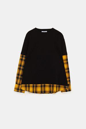 Zara Sweatshirt combinada aos quadrados
