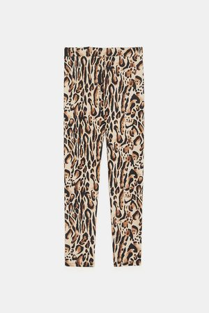 Zara ANIMAL PRINT LEGGINGS