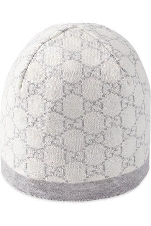 Gucci Bebé Chapéus - Baby GG pattern wool hat