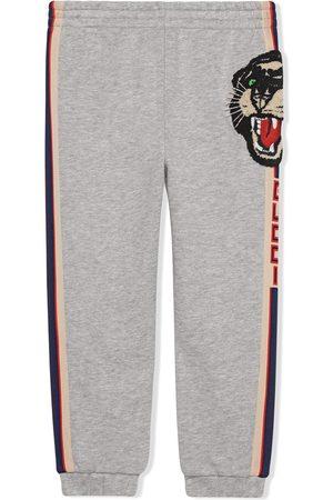 Gucci Menina Calças - Children's jogging pant with Gucci stripe