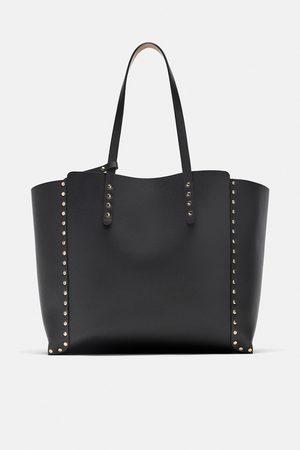 Zara Senhora Shoppers - Shopper reversível com tachas
