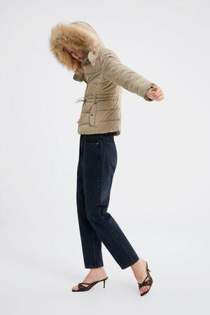 Zara Blusão acolchoado com capuz water resistant