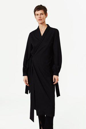 Zara Camisa vestido cruzada