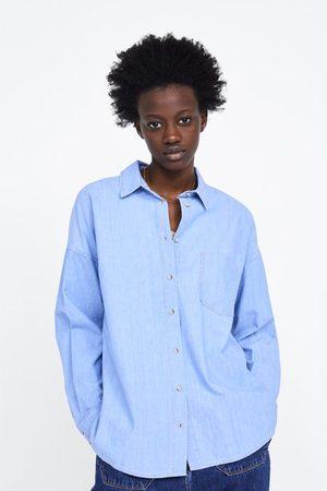 Zara Camisa oversize denim