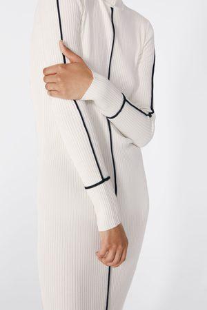 Zara Senhora Vestidos de Malha - Vestido de malha canelada