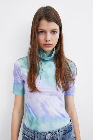 Zara T-shirt de gola alta