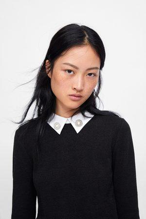 Zara T-shirt gola popelina