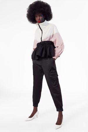 Zara Calças cargo acetinadas