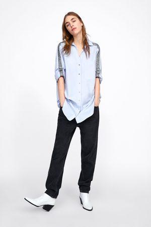 Zara Camisa com faixa lateral com estampado animal