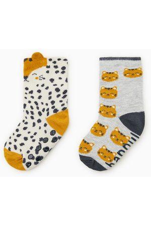 Zara Pack dois pares de meias tigre