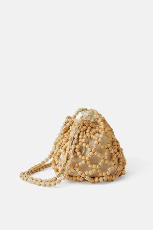 Zara Mala tipo saco com contas de madeira