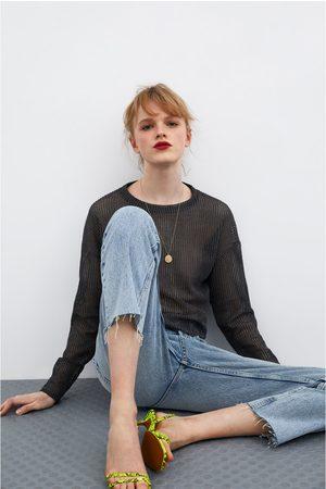Zara Sweatshirt semitransparente