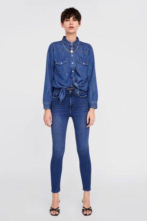 Zara Jeans zw premium high waist skinny air blue