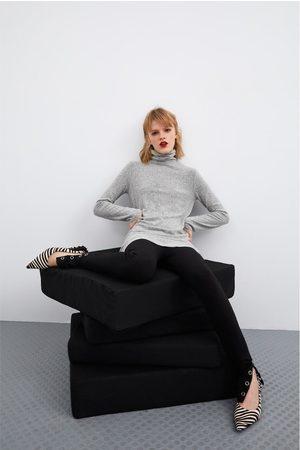 Zara Vestido básico de toque suave