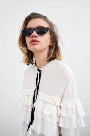 Zara Camisa com folhos e laço