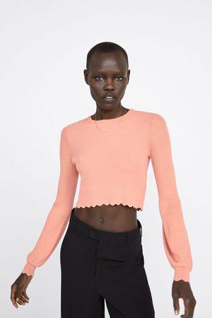 Zara Sweater cropped com ondas