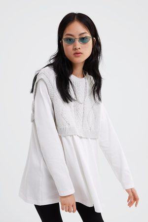 Zara T-shirt combinada de tricot