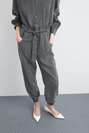 Zara Long belted jumpsuit