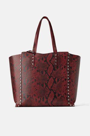 Zara Shopper reversível com tachas