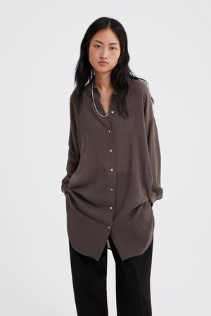 Zara Camisa comprida com estrutura