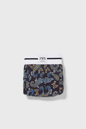Zara Boxers com estampado paisley