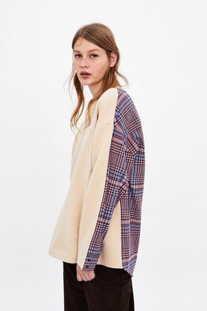 Zara Sweatshirt combinada camisa