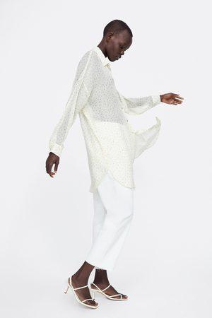 Zara Camisa comprida às bolinhas