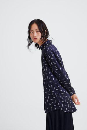 Zara Camisa com estampado de nós