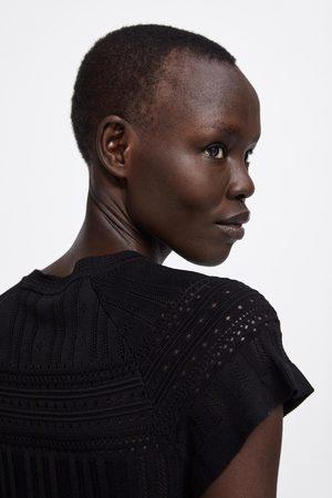 Zara Sweater de malha com folho