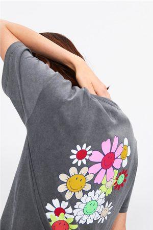 Zara T-shirt com estampado floral