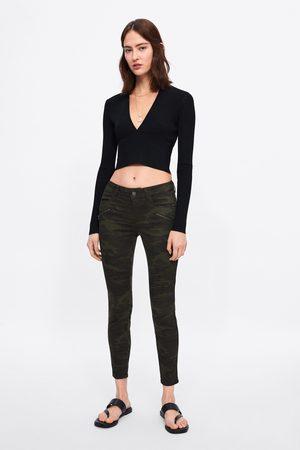 Zara Jeans z1975 skinny camuflagem