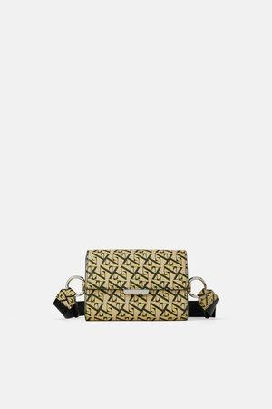 Zara Bolsa de cintura mala a tiracolo com logótipo