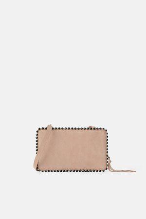 Zara Mala a tiracolo tipo carteira de pele com bolinhas