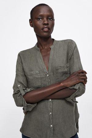 Zara Camisa com bolsos