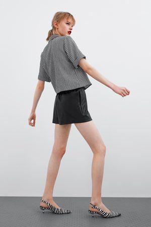 Zara Calções bermuda com efeito de pele