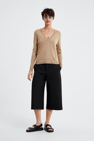 Zara Sweater de malha de lã merino