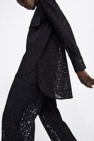 Zara Camisa de renda com bolsos