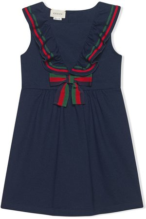 Gucci Children's cotton piquet dress with bow